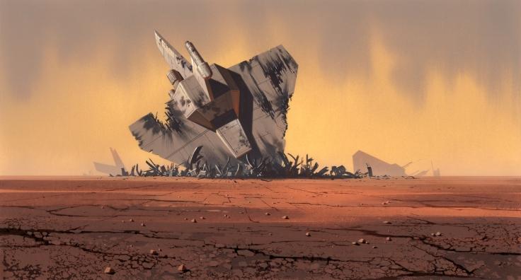 The Lie artwork crashed space ship alien world