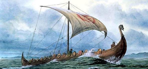 The Plundering viking saxon ship longboat