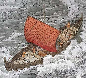 The Plundering viking knor